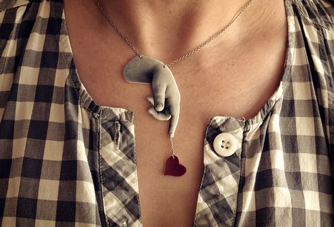 Love this design for a shrink plastic necklace - IC2: Hearts and Flowers via Flickr #shrink #plastic #crafts #necklace