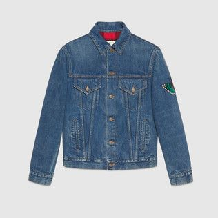 los angeles casual shoes utterly stylish Denim jacket with embroideries | DieS Das Ananas