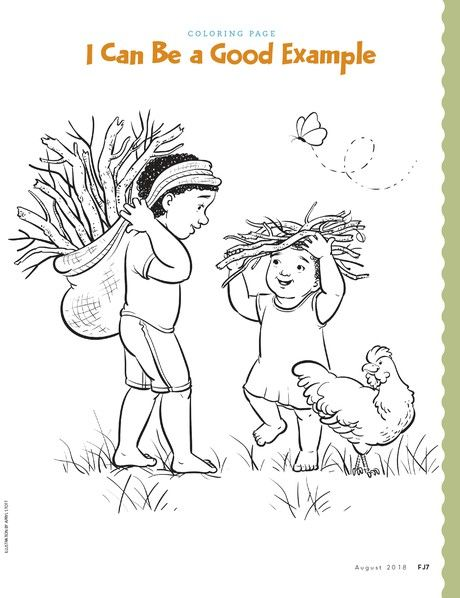 I Can Be A Good Example Coloring Pages Lds Coloring Pages Lds Kids