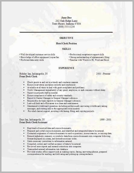 72 New Gallery Of Resume Examples For Gym Receptionist