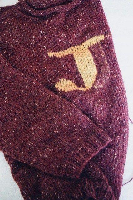 Knitting Review Harry Potter Weasley Sweater The Cozie Weasley Sweater Harry Potter Sweater Ron Weasley Sweater