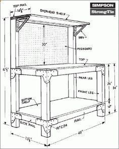 Plans of Woodworking Diy Projects - PDF Plans Free Work Bench