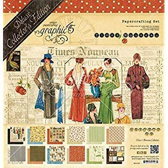 Times Nouveau Graphic 45 4501000 Deluxe Collectors Edition Pack 12 by 12-Inch
