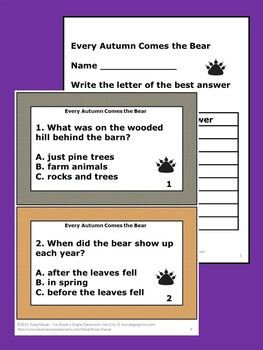 Every Autumn Comes The Bear Vocabulary Reading Comprehension Fall Activities Follow Rosa Mauer Reading Comprehension Technology Lesson Plans Writing Skills