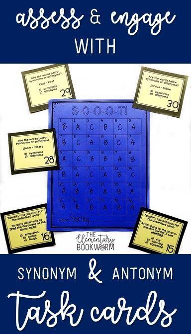 Synonym and Antonym Task Cards {Synonym and Antonym SCOOT