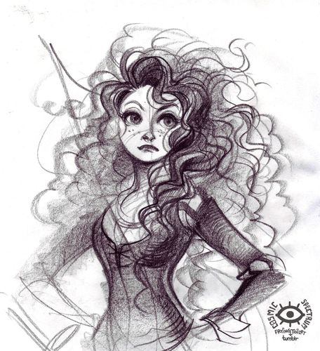 Merida - Brave Fan Art (35556756) - Fanpop