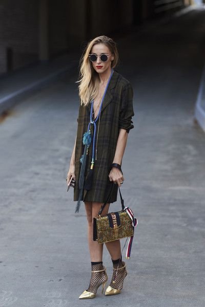Gold Accents - 60 Creative Outfit Ideas From New York Fashion Week - Photos