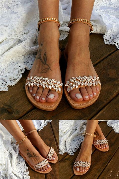 34 Comfy #Wedding Sandals to Blow Your Mind Away