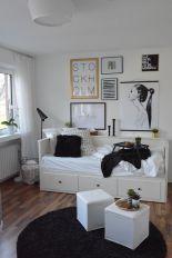 Jugendzimmer Kinderzimmer Junge Mädchen Teeniezimmer In Schwarz Weiss Gold  Mit Holz Scandi Look
