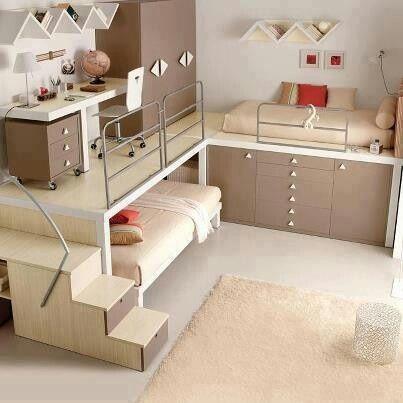 Idea para un cuarto infantil con poco espacio cuartos - jugendzimmer komplett poco awesome design