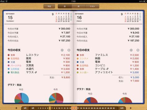Ipad マネー手帳hd Iphone定番の家計簿アプリ マネー手帳のipad版