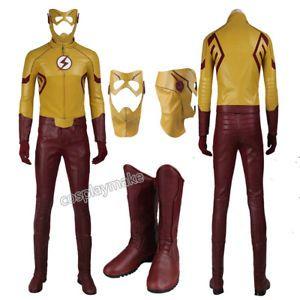 The Flash Season 3 Cosplay Kid Flash Superhero Costume Uniform Halloween Outfits