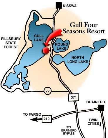 Mn Resort Location Fishing Vacation Lake Resort Gull Lake
