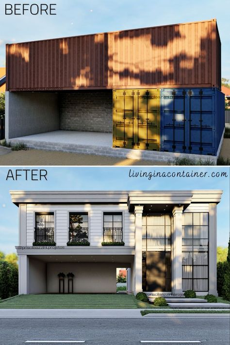 Modern Tiny House, Small House Design, Tiny House Plans, Building A Container Home, Container Buildings, Shipping Container Home Designs, Shipping Containers, Luxurious Bedrooms, Future House