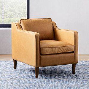 Hamilton Leather Chair Leather Chair West Elm Mid Century