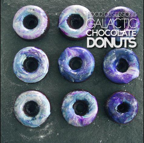 Galactic Chocolate Donuts