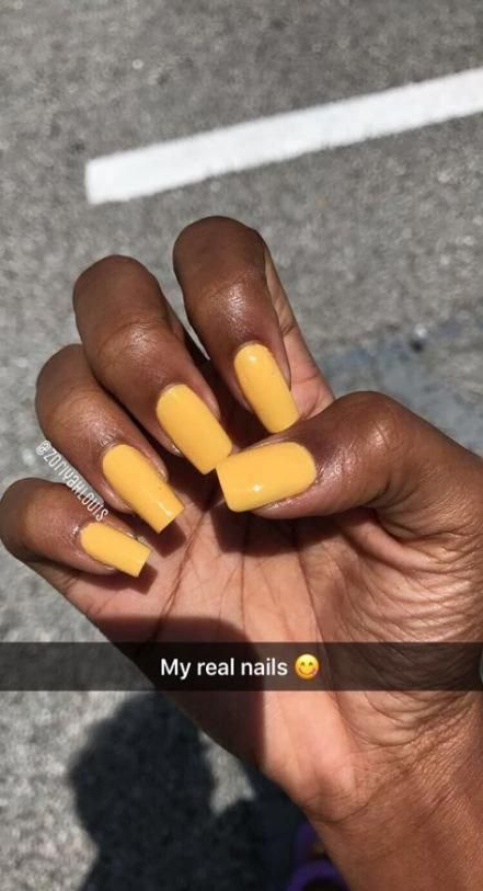Nails Dark Skin Sns 62 Ideas Orangenails In 2020 Yellow Nails Dark Nails Cute Acrylic Nails