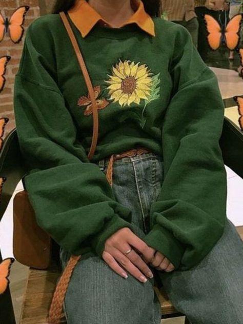 Long Sleeve Vintage Shift Hoodies & Sweatshirts - Anniecloth