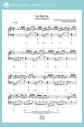 Let Her Go by Passenger Piano Sheet Music | Advanced Level