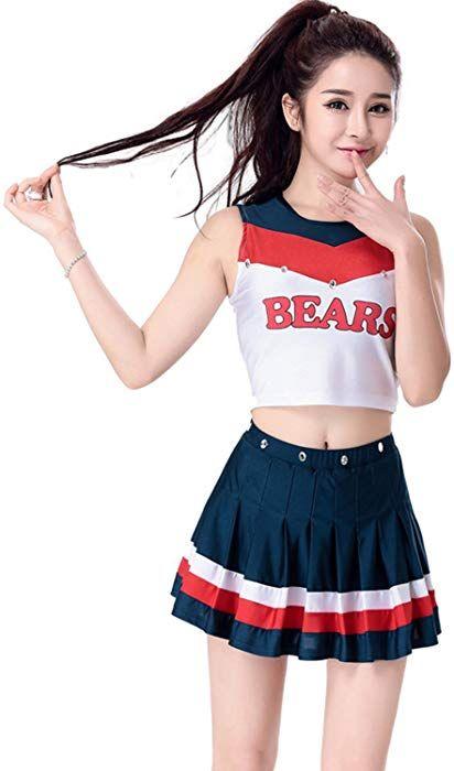 Babyicon Damen Cheerleader Kostume Uniform Fussball Sport