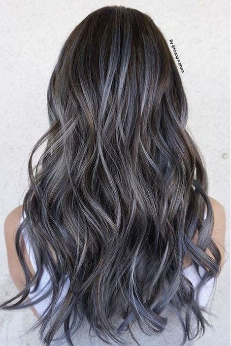 The Best Hair Color Ideas For Brunettes Brown Hair With Silver Highlights Ash Hair Color Blonde Hair Color