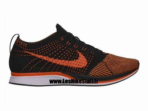 timeless design e7a12 98f37 Officiel Nike Flyknit Racer Chaussure de Running Nike Mixte Pas Cher Pour Homme  NoirOrange 526628-006