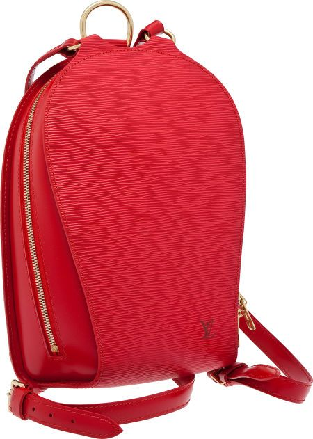 d623ce841249 Heritage Vintage  Louis Vuitton Red Epi Leather Mabillon Backpack ...
