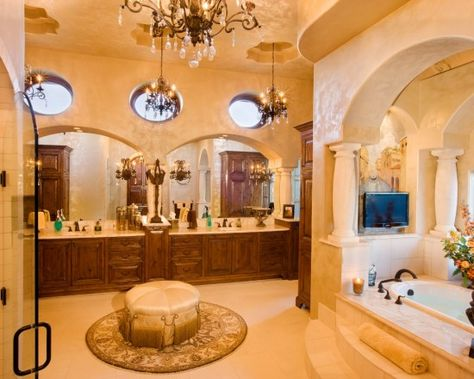 beautiful mediterranean master bathroom   things for my