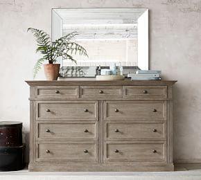Livingston 5 Drawer Tall Dresser Extra Wide Dresser White