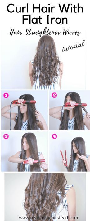 Wavy Hair Tutorial Using A Flat Iron Wavy Hairstyles Tutorial Curl Hair With Straightener Curling Hair With Flat Iron