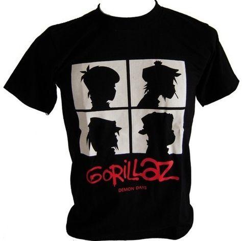 d6372ad4 New Gorillaz ,BandT-shirt Classic Logo Men's T-shirts tshirts O-neck Cotton Tee  Shirt Male S/M/L/XL/XXL $16.99