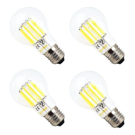 Bonlux G40 LED Vintage Filament Bulb 10W Edison Style LED G125 Clear Glass Globe Light Medium Screw E26 Base Neutral White 4000K 100W Incandescent Equivalent