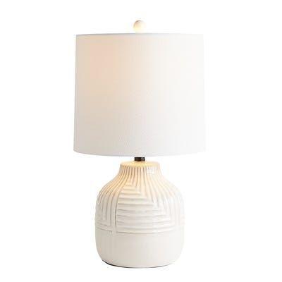 Patterned White Ceramic Table Lamp Ceramic Table Lamps Pink Table Lamp Table Lamp