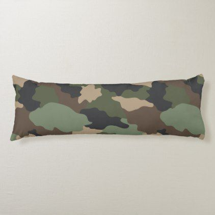 Woodland Camouflage I Body Pillow