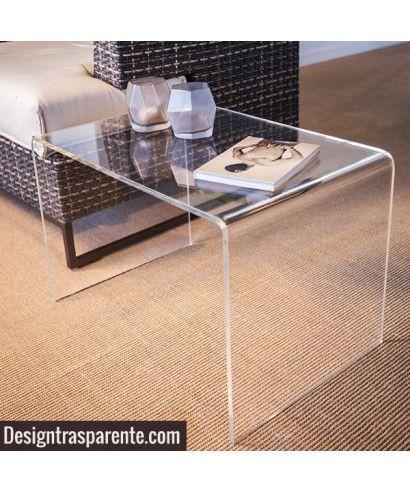 Tavolino Da Soggiorno Trasparente.Tavolino Da Salotto Modello A Ponte In Plexiglass