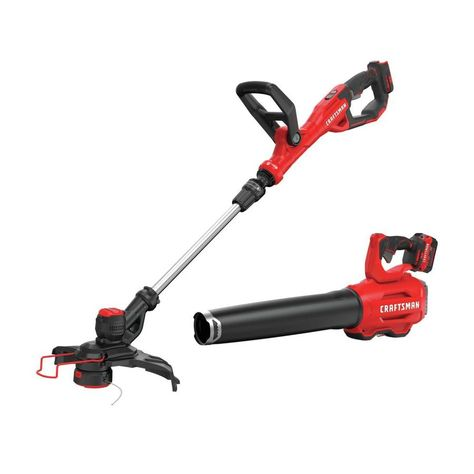 Craftsman V20 2 Piece 20 Volt Max Cordless Power Equipment Combo Kit Cmck297m1 In 2020 With Images Combo Kit Craftsman Combo