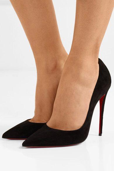 Black So Kate 120 suede pumps