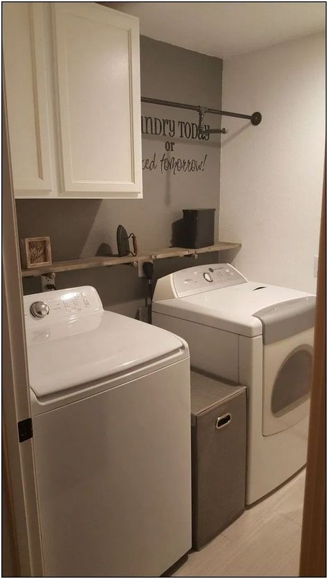 133 Beautiful And Simple Small Laundry Room Decorating Ideas To