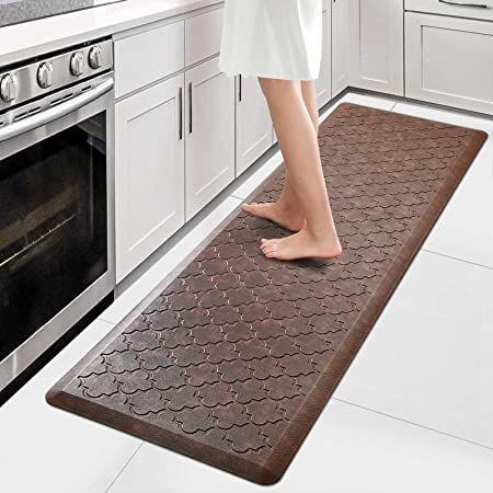Wiselife Kitchen Mat Cushioned Anti Fatigue Floor Mat 17 3 Quot X59 Quot Thick Non Slip Waterproof Ki Anti Fatigue Flooring Kitchen Rugs And Mats Kitchen Mat