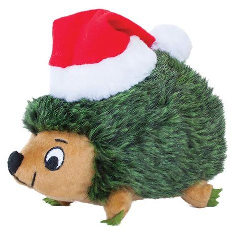 Outward Hound Holiday Hedgehog Junior Dog Toy Green Dog Toys