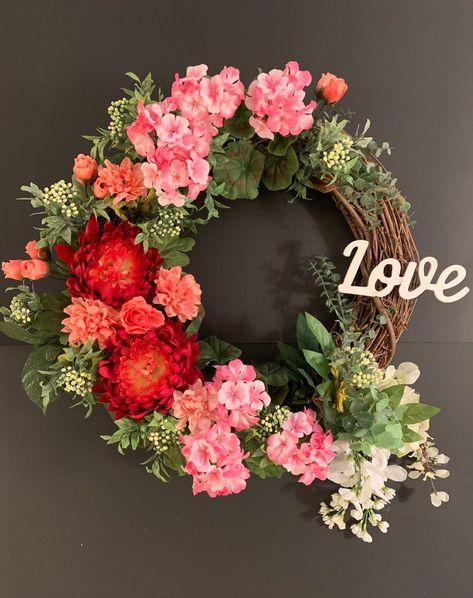 Spring Floral Wreath Front Door Wreath Summer Wreath Door | Etsy