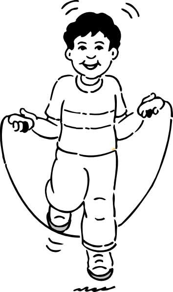 This Coloring Page For Kids Features An Excited Looking Boy Enjoying Some Jump Rope Fun Coloring Pages Jump Rope Coloring Pages For Kids