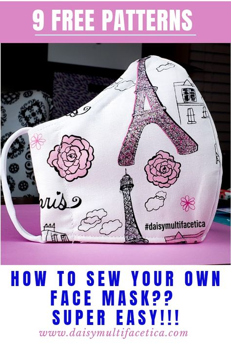 Small Sewing Projects, Sewing Hacks, Sewing Tutorials, Sewing Crafts, Dress Tutorials, Easy Face Masks, Diy Face Mask, Techniques Couture, Sewing Techniques