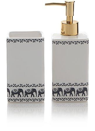 Freedom Elephant Soap Dispenser And Tumbler Range George Soap