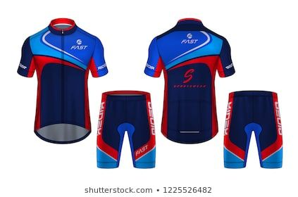 Cycling Jerseys Mockup T Shirt Sport Design Template Uniform For