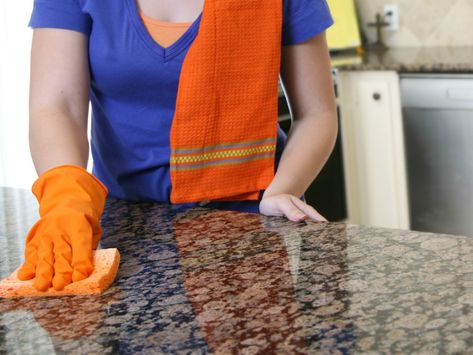 How To Clean Granite Countertops Without Harsh Chemicals Http Www Firstforwomen Cleaning Granite Countertops How To Clean Granite Cleaning Marble Countertops