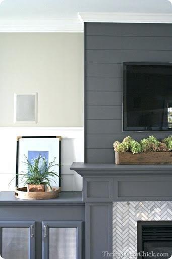 Shiplap On Fireplace Dark Gray Fireplace Shiplap Fireplace With Stone Home Creative Home Decor Home Decor