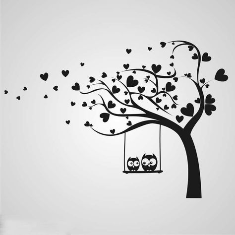 Reusable Thick Craft Stencil for Furniture, Walls, Wood, Fabrics, Glass, Art, Canvas etc. KIDS LOVE TREE WITH OWLS. Stencils are made from thick plastic sheet, reusable. Simply wash it in a warm water and use again.   eBay!
