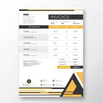 Professional Modern Invoice Template Invoice Template Bill Template Templates