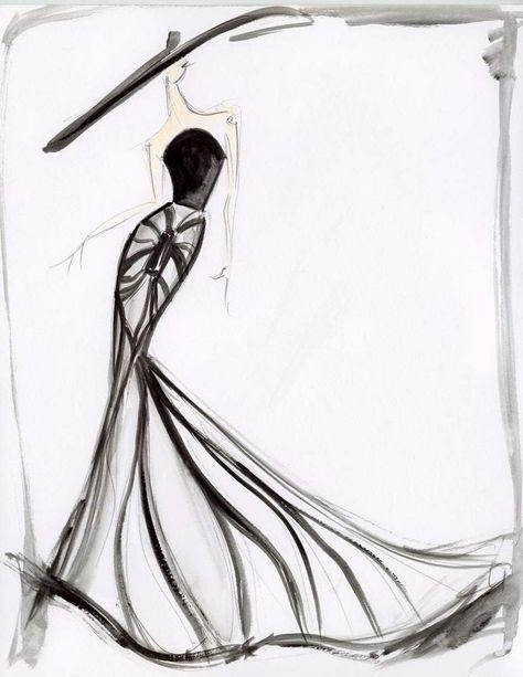 Fashion Illustration Sketches, Portrait Illustration, Fashion Sketches, Drawing Sketches, Drawing Tips, Dress Sketches, Drawing Ideas, Design Illustrations, Drawing Techniques